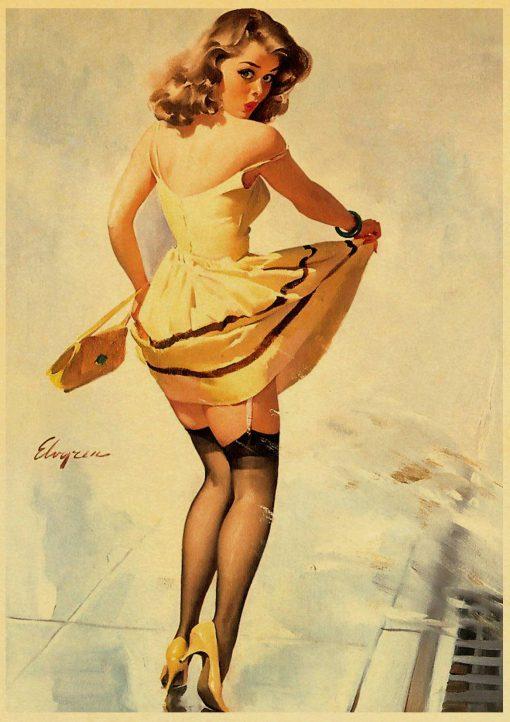 Affiches Vintage Pin up Rétro Pour Décoration Intérieur 1