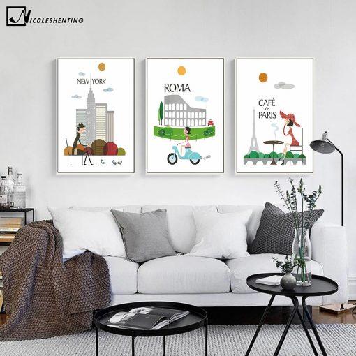 Affiches Vintage De Villes Pour Décoration 1