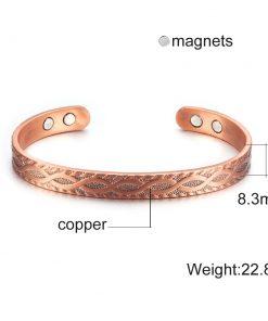 Bracelet Magnétique Cuivre Pour Homme ou Femme 1