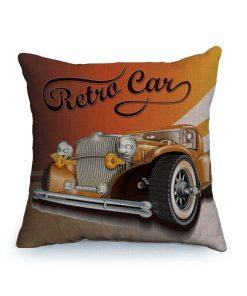 Housse de coussin vintage et rétro thème voitures classique 1